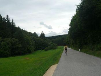 Wienerwald und Wolken