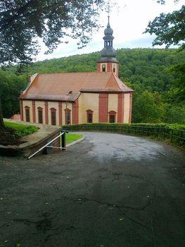 Die Wallfahrtskirche nach Durchfahrt der 2. Rampe