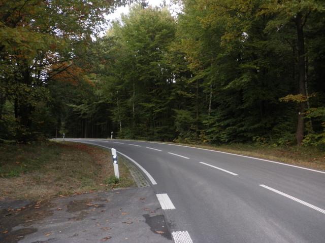 Passhöhe von Pfaffenhausen kommend