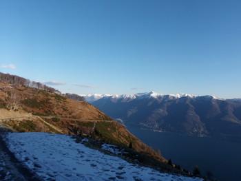 Umkehrpunkt bei Monte di Ronco auf 1250 m