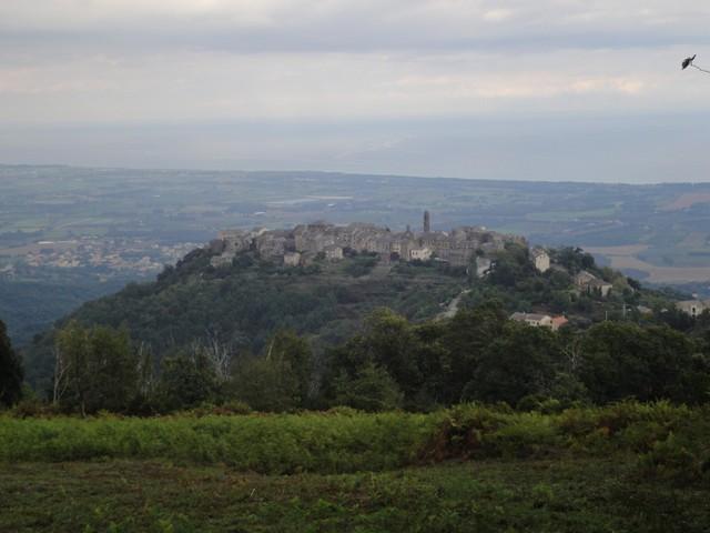 Blick zurück auf Penta-di-Casinca