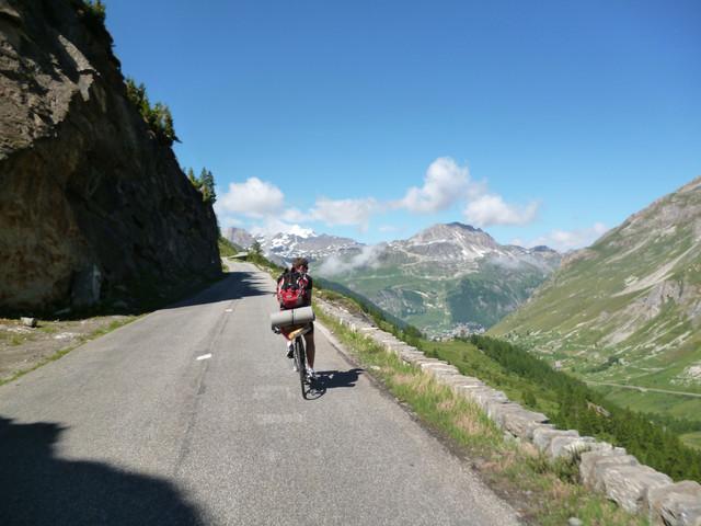 Auffahrt zum Col de l'Iseran