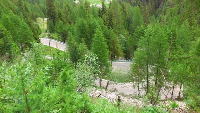 Serpentinen vor der Zufrittsee-Staumauer.