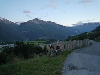 View from the mountainroad down to Aussois & to South