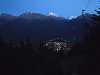 View from the mountainroad down to Aussois