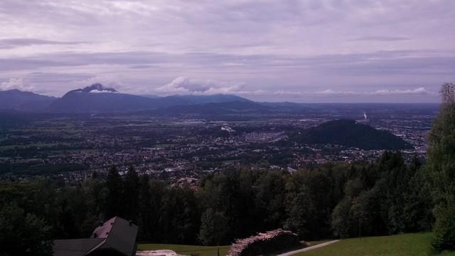 Blick übers Salzburger Becken