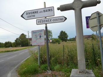 Anfahrt von Crassier, hier Richtung Vésenex
