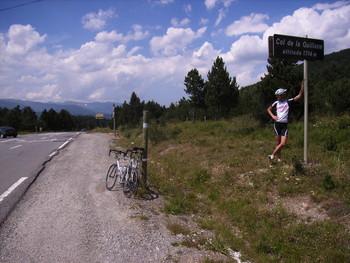 Die Passhöhe des Col de la Quillane im Jahr 2005.