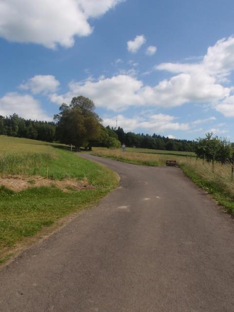 Beginn des letzten Drittels hinter Gornhausen.