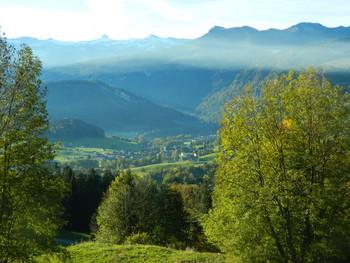 Schwarzenberg vom Lorenapass aus gesehen (Abfahrt)