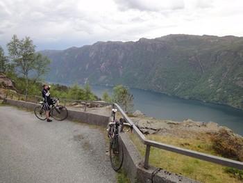 Aussicht auf den Frafjord kurz vorm Ende der Nordauffahrt.