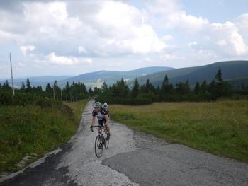 Grandioser Ausblick zur Cerna Hora an der Vyrovka bouda.