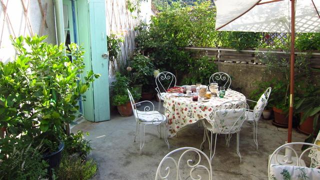 Dachgartenfrühstück.