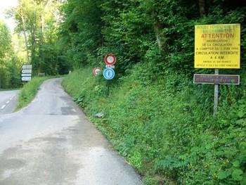 Beginn - verbotene - Nordanfahrt.
