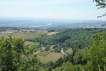 Abfahrt Richtung Pélussin: Rhône