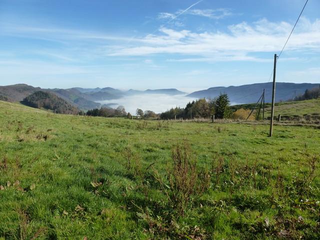 Juraberge über Nebelschwaden