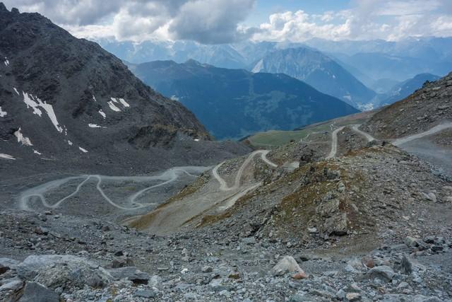Leider versteckt sich der Mont Blanc in den Wolken