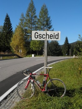 Das Passschild am (Kernhofer) Gscheid