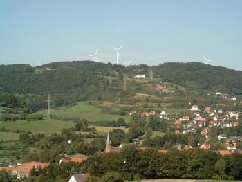 Elm mit Dorfkirche unten - Berghof mittig - Habertshof links oben.