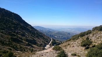 Blick vom Aussichtspunkt oben auf dem P.de las Palomas
