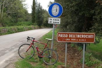 Das Passschild - eine echte Rarität in der Provinz Siena
