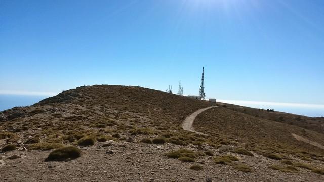 Am Gipfel der Sierra de Lújar.