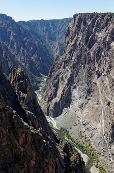 Blick in den Black Canyon etwas weiter nordwestlich.