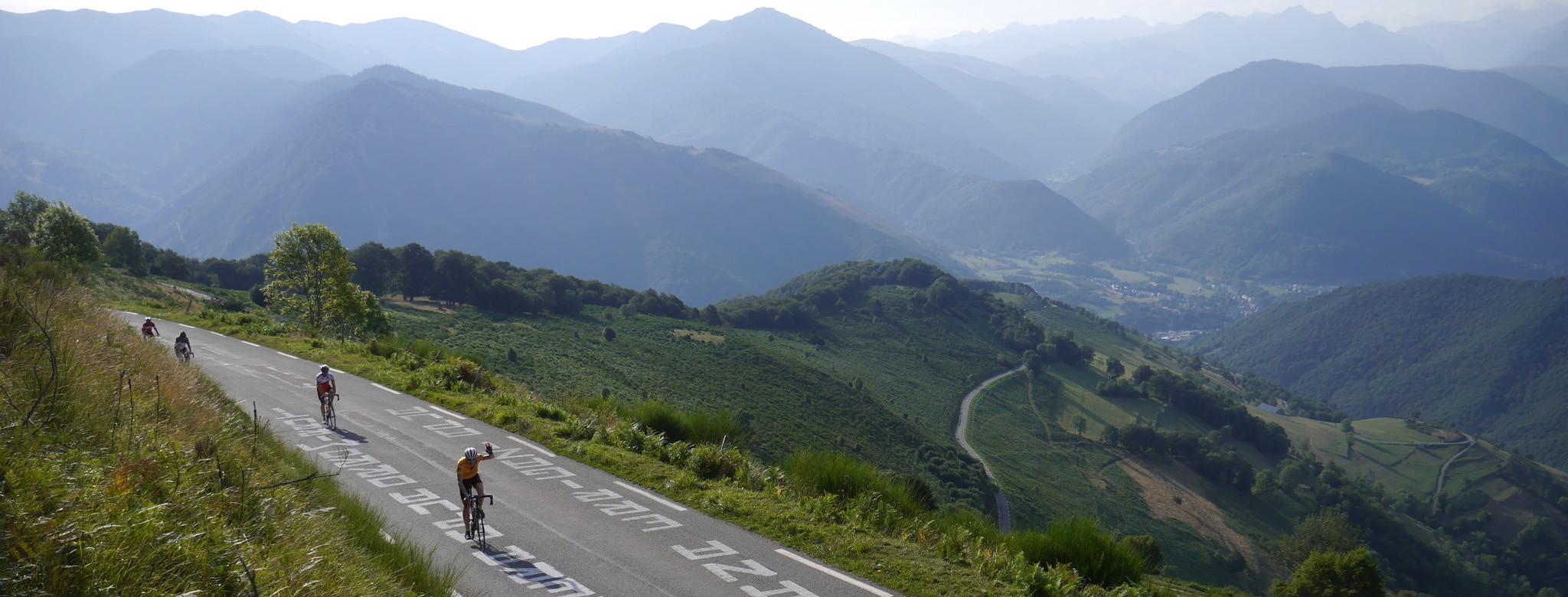 Quer über die Pyrenäen