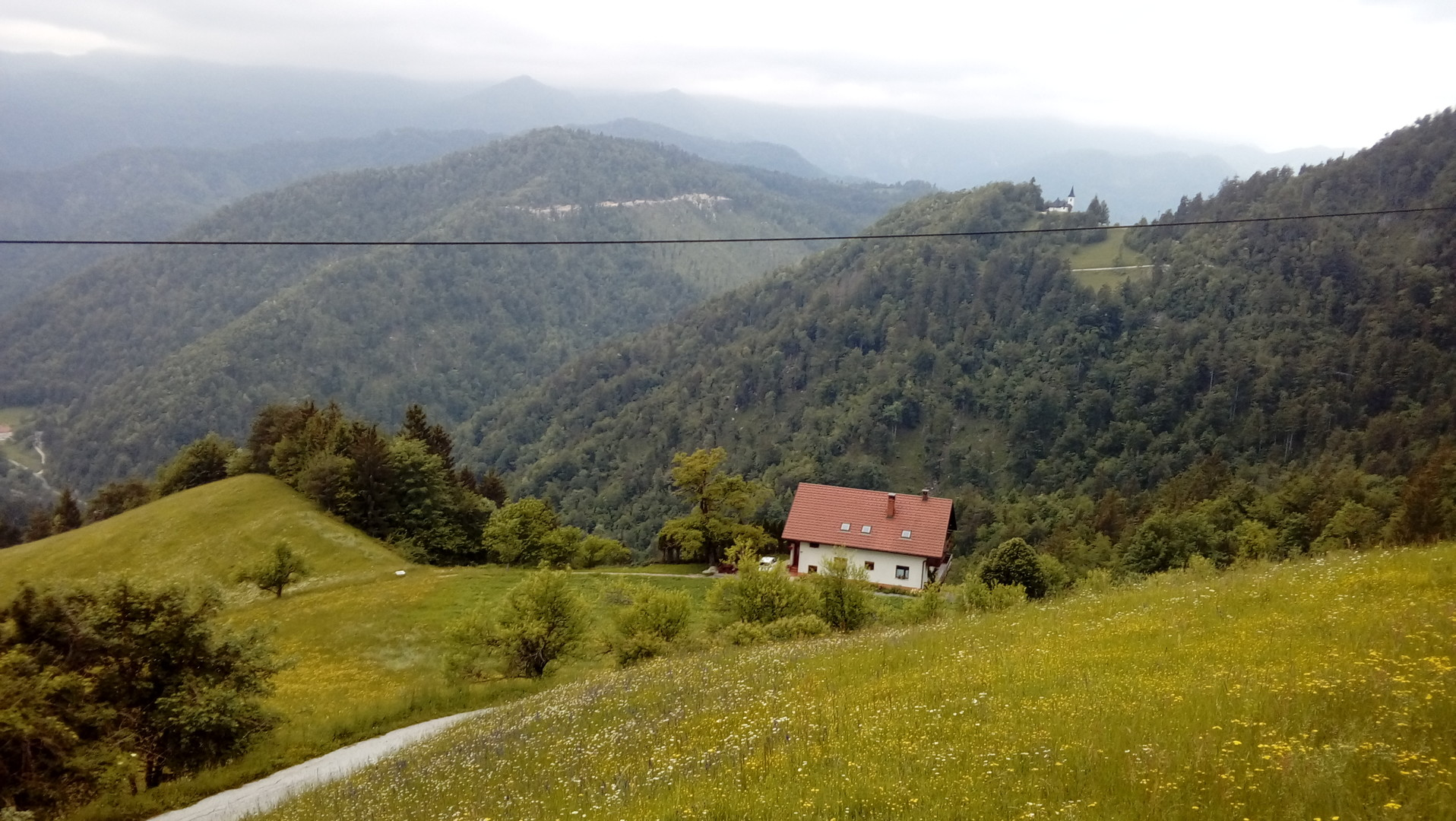 Alternativ-Route: Blick Richtng Idrijca-Tal.